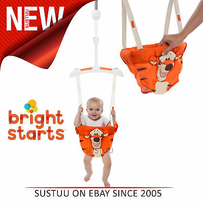 Bright Starts Disney Baby Tigger Door Clamp Jumper/Bouncer│Padded Seat│+6 Months
