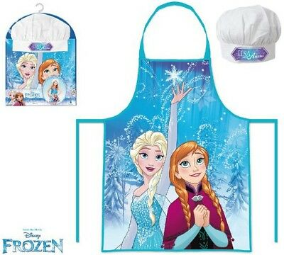 Girls Kids Disney Frozen Anna & Elsa Cook Gift Chef Set Includes Apron And Hat