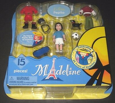 New Madeline La Petite Pepito Playset 15 Pieces Doll Clothes Accessories Set Toy