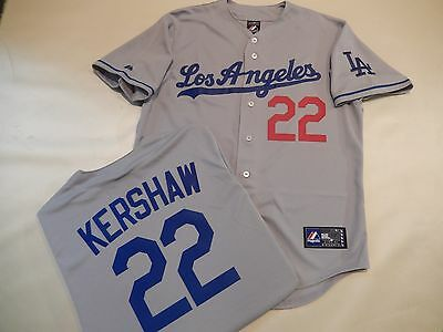 0efaa5d3a95 999 Majestic Mens Los Angeles Dodgers CLAYTON KERSHAW Baseball JERSEY GRAY  New