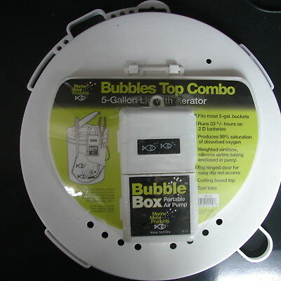 ac6109265e8 Marine Metal Products Bubbles Top Combo 5-Gallon bucket Lid with Aerator  LB-11
