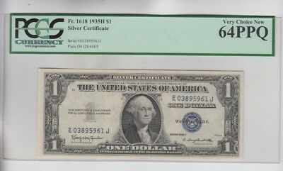 Silver Certificate $1 1935-H  PCGS graded very choice new 64PPQ