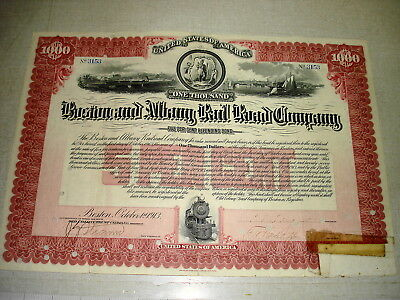 1913 $1,000 5% Refunding Bond BOSTON & ALBANY RAIL ROAD COMPANY #3153