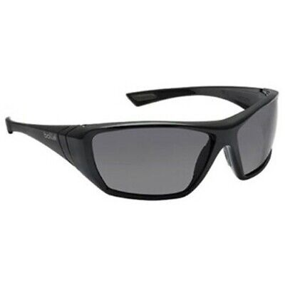 41319d6113 Bolle 40149 Shiny Black Hustler Smoke Anti-Scratch Anti-Fog Lens Safety  Glasses