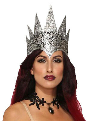 Dark Royalty Silver Lace Evil Queen Womens Adult Costume Crown