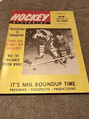 October 1965 Frank Mahovlich Toronto Maple Leafs Hockey Pictorial Cover