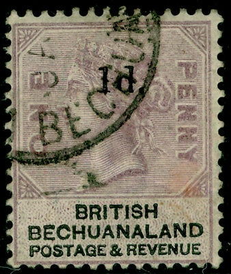 BECHUANALAND SG22, 1d on 1d lilac & black, FINE used.