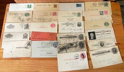 Vintage lot of 23 Postcards pre-posted stamps mixed lot. L105.