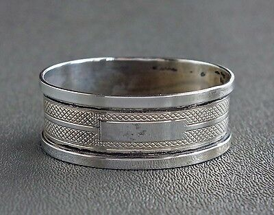 Henry Griffith & Sons BIRMINGHAM ENGLAND OVAL Sterling Silver Napkin Ring c.1930