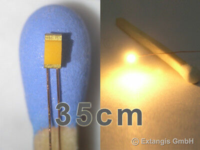 100x LED 0603 SUPER GOLDEN WHITE +Cu-Draht 35 cm XL most warm +long copper wire