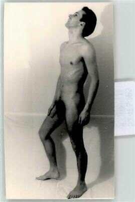 52473293 - Photo Gay Interest Nude Posing Guy 7x13cm Pin Up