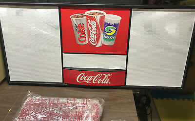 Coca-Cola Menu Board New In Box With Letters & Numbers