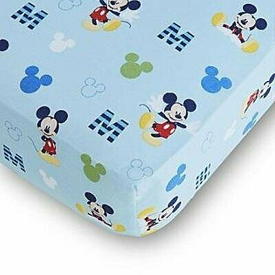 Disney Baby Mickey Mouse Fitted Crib Sheet - Blue Boys