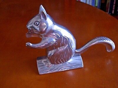 Squirrel Nut Cracker Polished Stainless Silver Aluminum Metal Vintage EXC