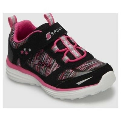 NEW Toddler Girls' Tyro Performance Athletic Shoes - Black/Pink - Size:10
