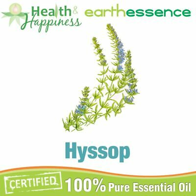 HYSSOP ~ earthessence Certified 100% Pure Essential Oil ~ Aromatherapy