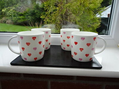 Laura Ashley Set 4 Hearts Mugs BNWT 1st Quality
