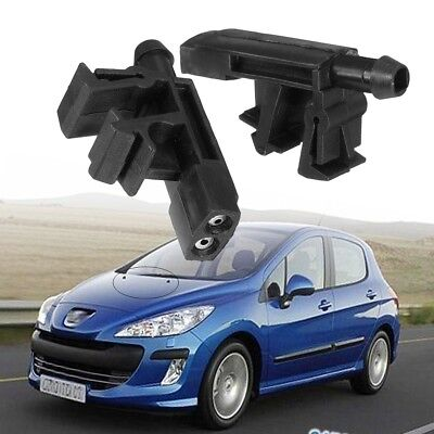2x Front Windscreen Washer Jet Water Wiper Nozzle For Peugeot Partner 1996~ 2009