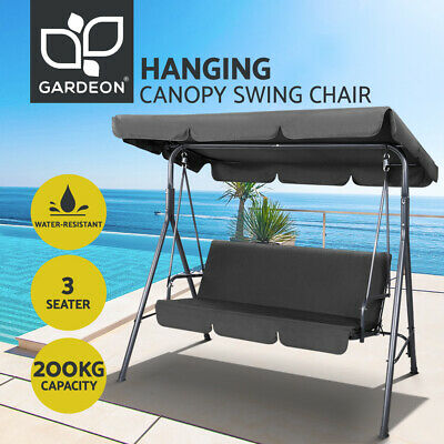 【20% OFF$118】Outdoor Swing Chair Hammock 3 Seater Garden Bench Canopy Furniture