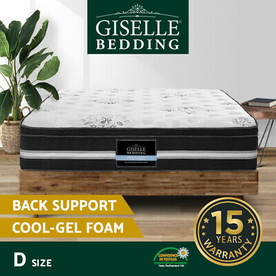 Giselle Bedding Double Size Mattress COOL GEL Memory Foam Pocket Spring Bed 34CM