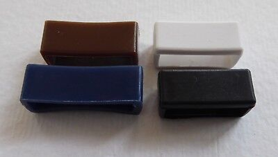 Pvc/rubber Watch Strap Keeper / Loop Black/blue/white/brown 16Mm To 24Mm