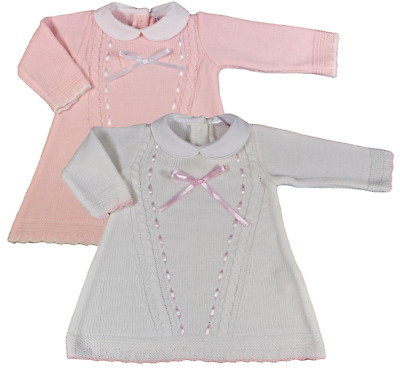 Baby girl dress Spanish style knitted BOW