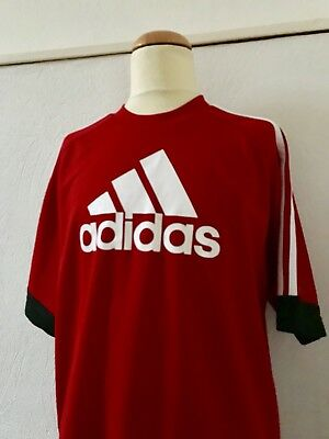 @ ADIDAS @ Logo Sport Trainings Shirt rot Gr. 164 Climalite