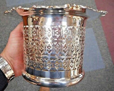Silver Plated Quality Vintage Jardiniere , Family Heirloom, Nicest On Ebay L@@k