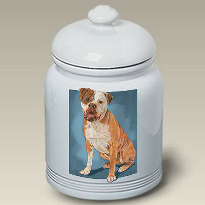 Ceramic Treat Cookie Jar - American Bulldog (PS) 52300