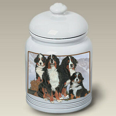 Ceramic Treat Cookie Jar - Bernese Mountain Dog (PS) 52051