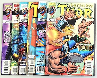 ESZ1801. MARVEL Comics The Mighty THOR #6 7 8 9 10 11 8.5 VF+ (1998) Run of 6;