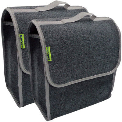 2 x Sakura Automotive Car Van Carpet Boot Storage Bag Organiser Tool Oil Tidy