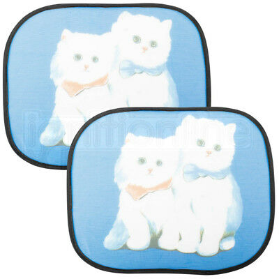 Cat Design Car Window Uv Mesh Sun Shades Blind Kids Baby Children Protection