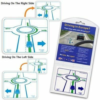DriveRight Lane Safety Device Sticker Driving In France Transparent Reusable