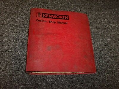 1981-1982 Kenworth C500B C500 L700 K100 W900A W900 Shop Service Repair Manual