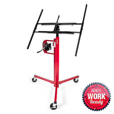 Drywall Lift Panel Jack Hoist - 11' Reach Red