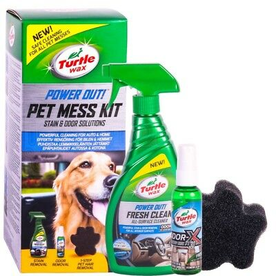 Turtle Wax Power Out Pet Mess Kit Cleaning Stain & Odor Car Dog Hair Remover