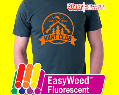 "Siser EasyWeed® Fluorescent Neon Heat Transfer Vinyl HTV for T-Shirts 15"" Roll"