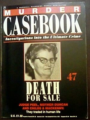 Murder Casebook 47 Death For Sale Judge Peel Mother Duncan Childs + Mackenny
