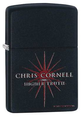 "Zippo ""Chris Cornell-Higher Truth"" Black Matte Finish Lighter, Full Size, 29732"