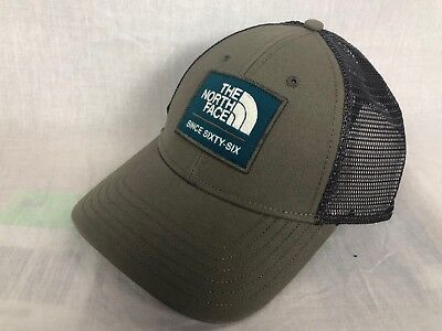 9ed6d0b431905 NEW NORTH FACE Patches Trucker Hat Cap Brown Blue Osfa Free Ship ...