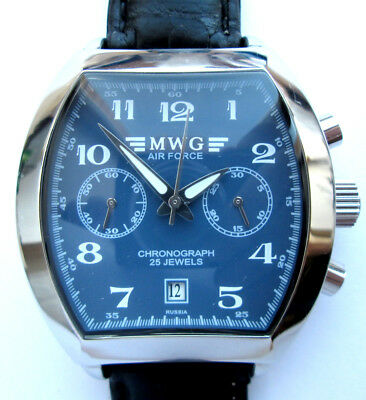 RUSSIAN WATCH CHRONOGRAPH MWG AIR FORCE Movement 31679