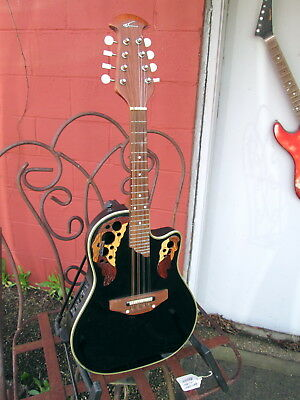 APPLAUSE MAE148 Acoustic Electric Mandolin in Black finish