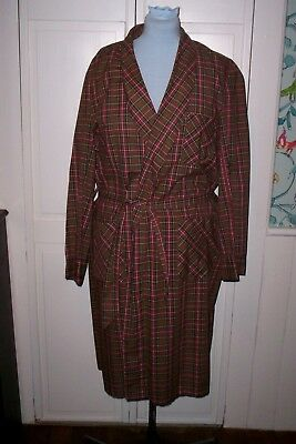 Vintage 50s-60s Men's Travelaire Wash & Wear Robe Large Made in USA