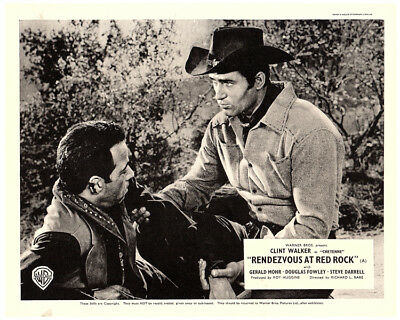 RONDEZVOUS AT RED ROCK Original Lobby Card Clint Walker as CHEYENNE TV Western