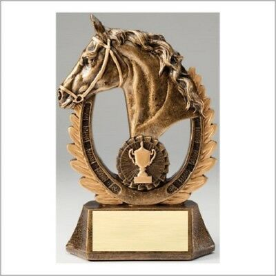 "8"" Horse Head Trophy Personalized Free"