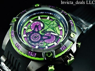 Invicta Marvel 52mm Bolt Viper Limited Edition HULK Chronograph Green Dial Watch