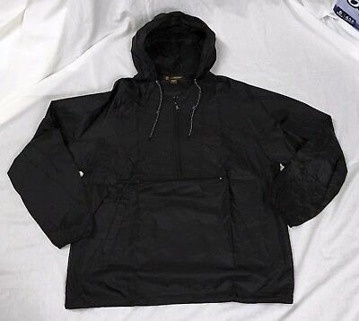 NEW Mens Lightweight Packable Pullover Windbreaker Jacket Black XL
