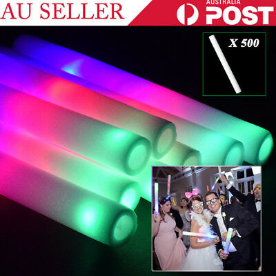 500PCS Glow Foam Sticks Flashing Light Up LED Wands Wholesale Wedding Party DJ