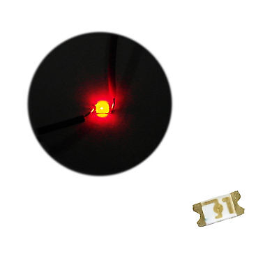 50 x LED 1206 Red SMD LEDs SMT Lights Super Ultra Bright Lamp Car RC Train Xbox